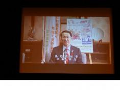 平井鳥取県知事はビデオレターで挨拶されました。